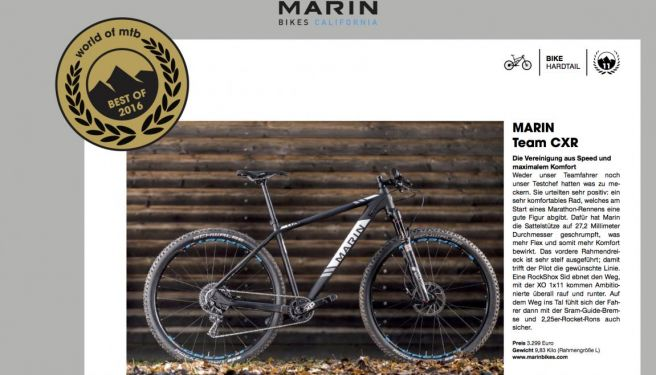 World of MTB - Best of 2016: Marin Team CXR